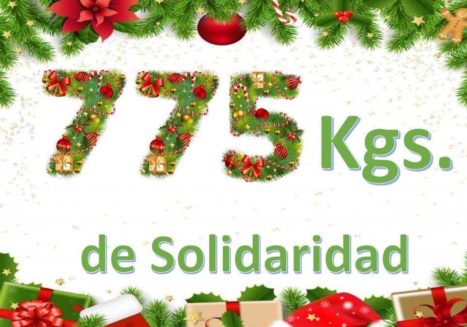 ¡GRACIAS! 775 Kgs DE SOLIDARIDAD